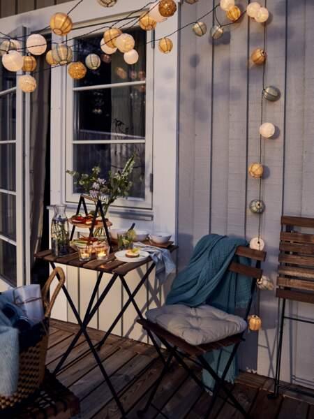 Terrasse chaleureuse et confortable - Ikea