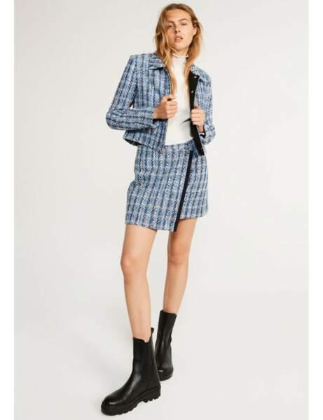 Veste tendance : tweed