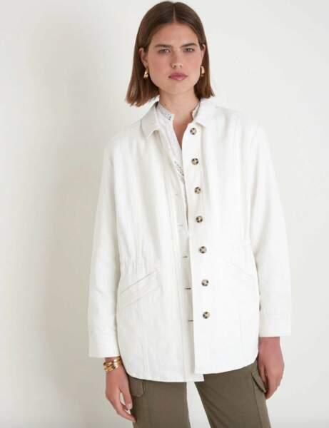 Veste tendance : blanche