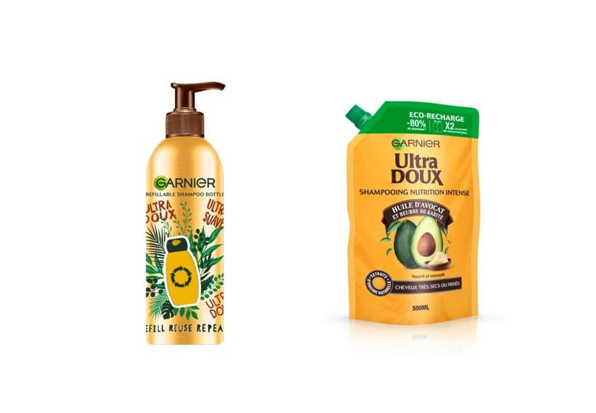 Le shampooing eco recharge Ultra Doux Garnier