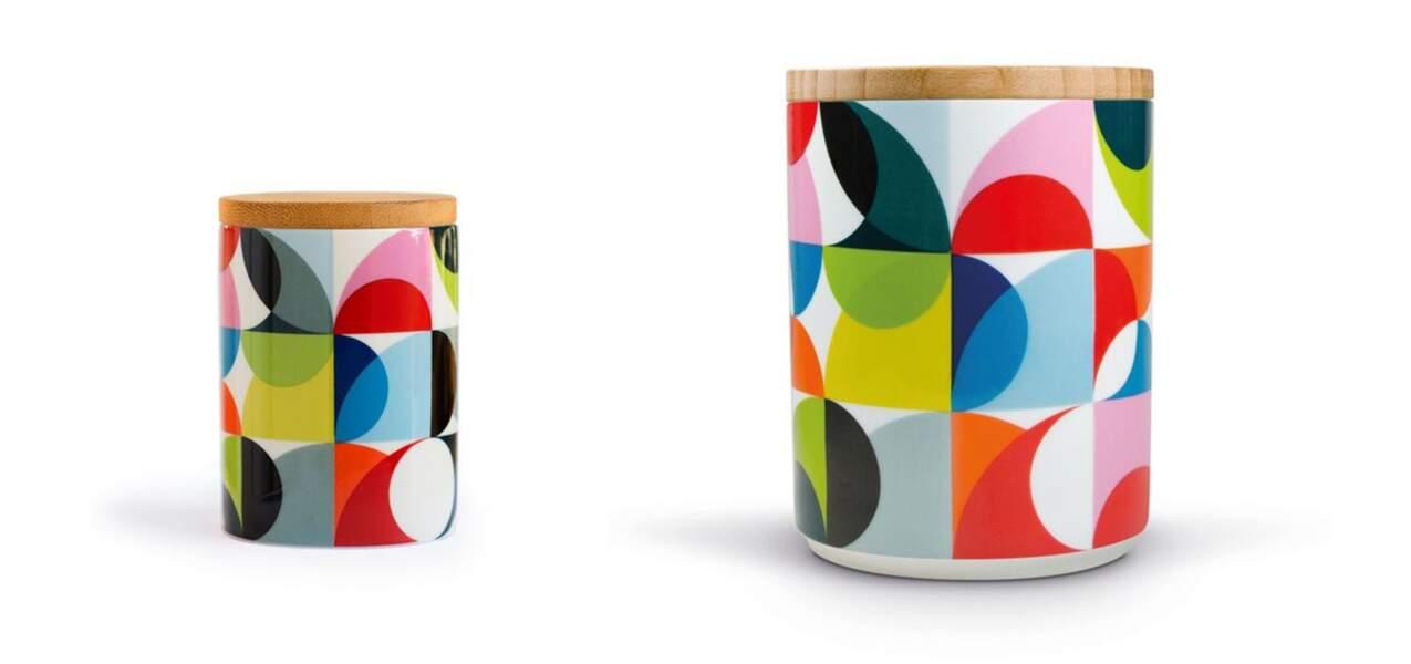 Pots en porcelaine et bambou