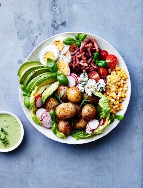 Salade cobb aux pommes de terre