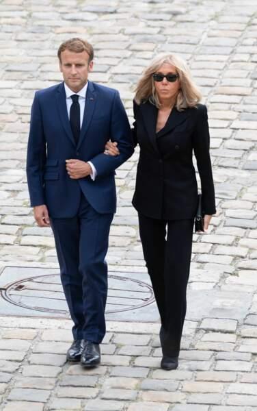 Emmanuel et Brigitte Macron aux Invalides