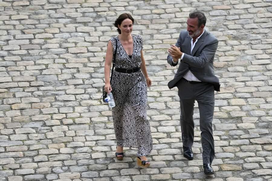 Jean Dujardin et Nathalie Péchalat  aux Invalides