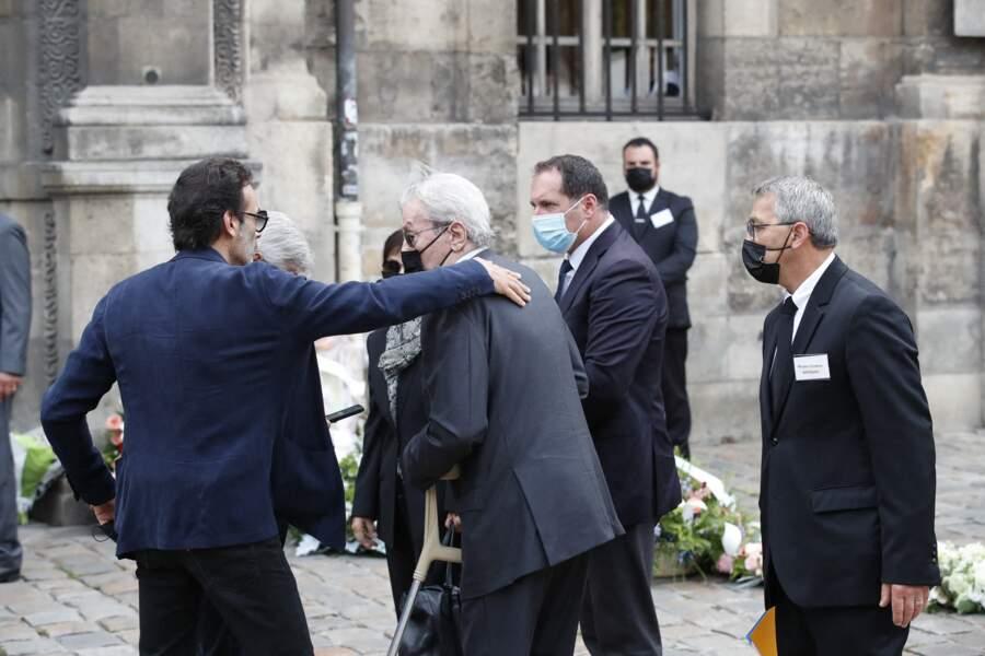 Alain et Anthony Delon aux obsèques de Jean-Paul Belmondo