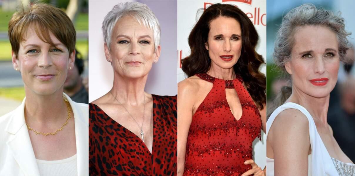 10 avants après de femmes qui ont opté pour les cheveux gris