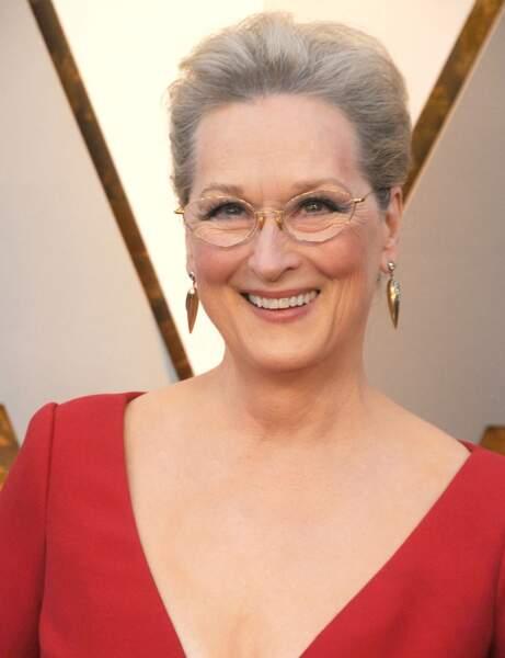 Meryl Streep avec les cheveux gris