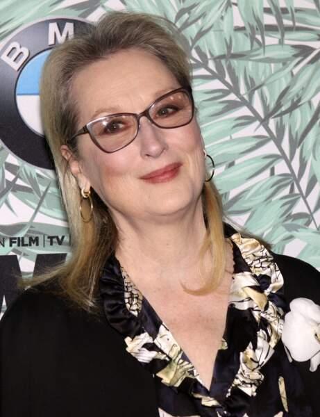 Meryl Streep avec les cheveux colorés