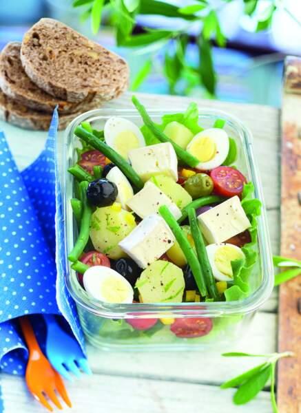 Salade façon niçoise au mini Caprice