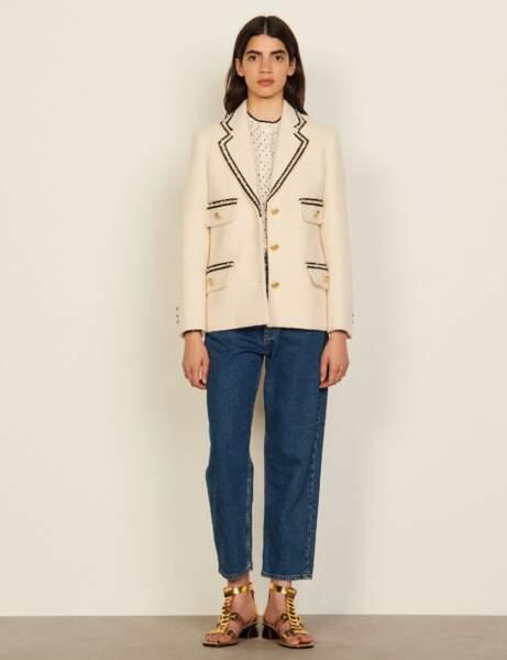 Blazer tendance : tweed