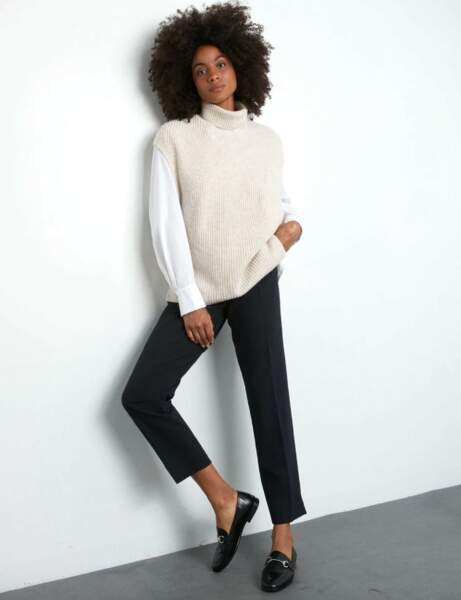 Pull sans manches : immaculé