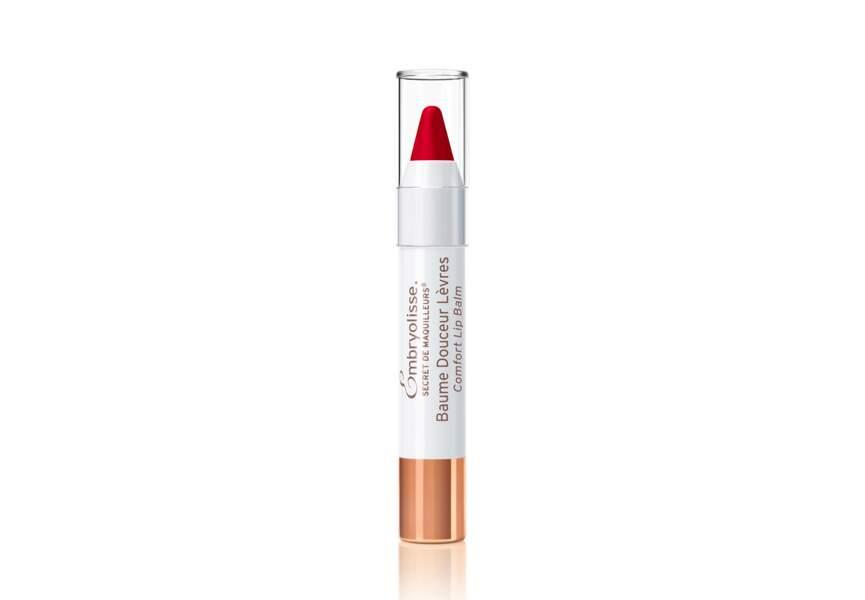 Le baume douceur lèvres rouge Embryolisse