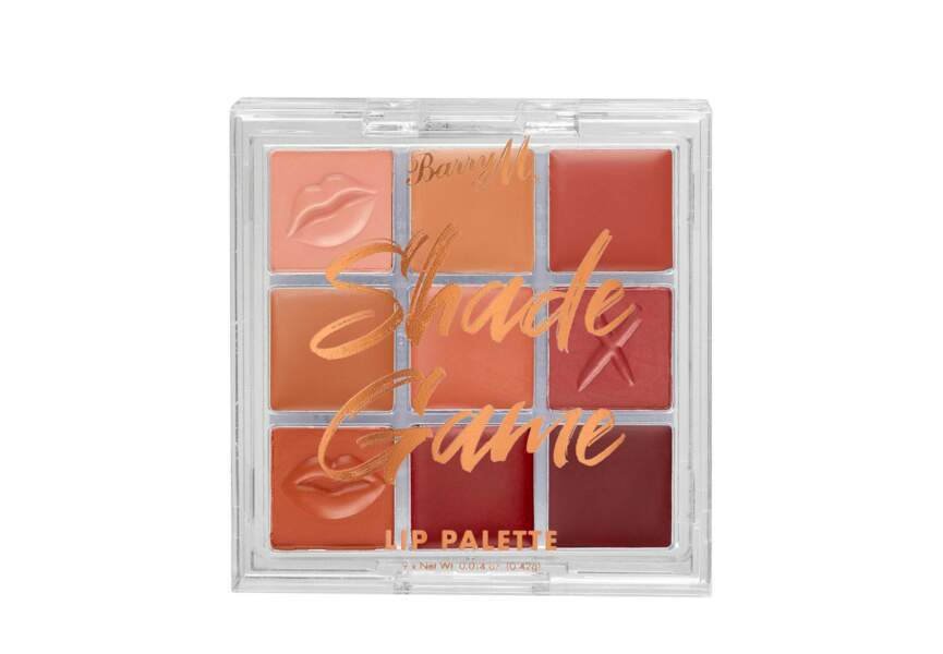 La palette shade game lip Barry M