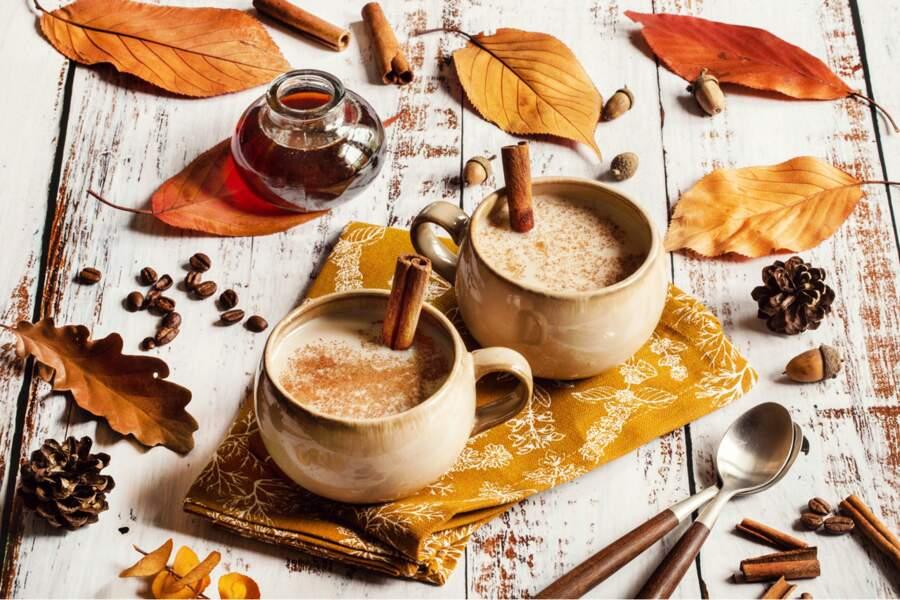 Café latte au sirop d'érable
