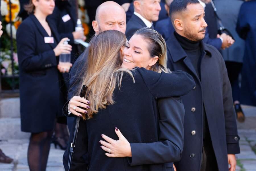 Sophie Tapie, la fille de Bernard Tapie, à la messe funéraire de son père