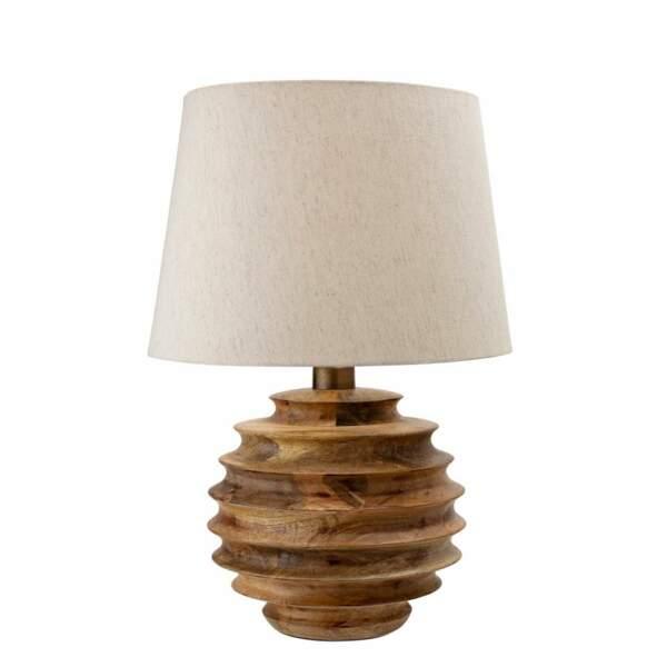 Lampe de table en manguier