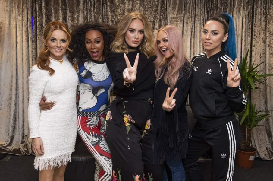 Adele et les Spice Girls en juin 2019