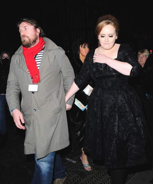 Adele et son ex-mari en 2010