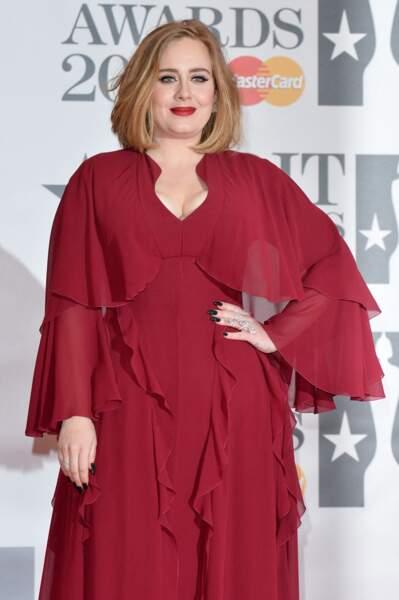 Adele, 28 ans, en février 2016