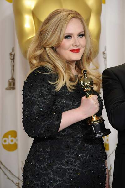 Adele et son oscar en février 2013