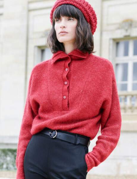 Pull camionneur : rouge
